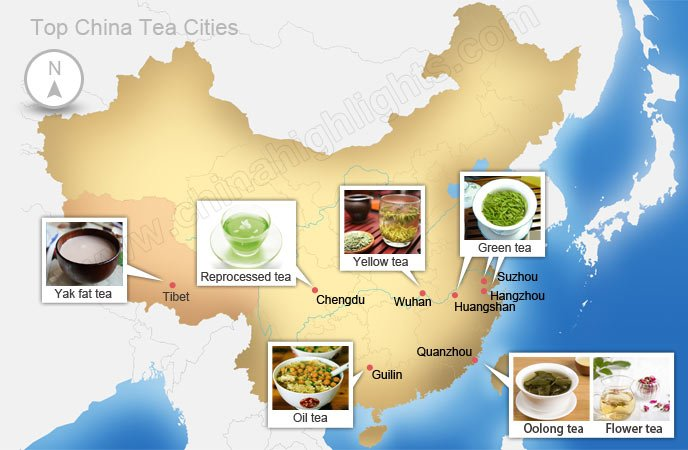 Chia tea cities map