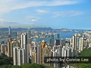 View of Hong Kong Island from atop Victoria Peak
