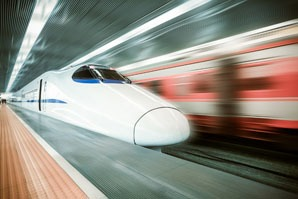 High-speed rail is a popular way to travel in China.