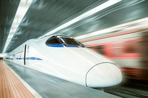A Chinese High-Speed Rail (HSR) train