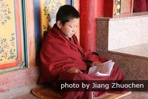 Lama in Ta'er Monastery in Qinghai