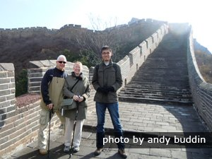 Percy, Lynne & Andy on the Great Wall of China