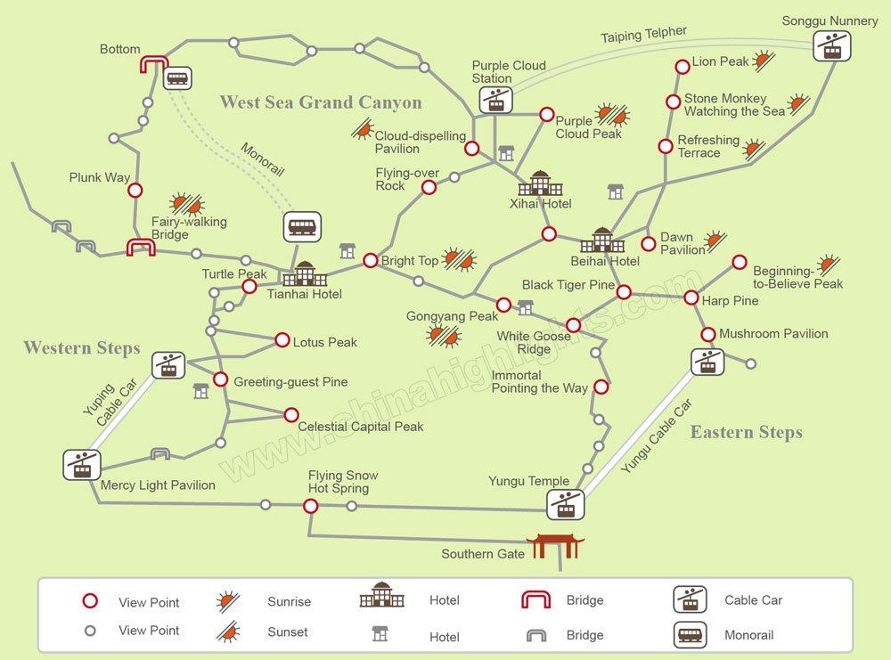 Huangshan Carte Chine.Huangshan Maps Tourist Maps Of Yellow Mountain