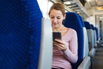 traveler using China Train Booking app to book China train tickets