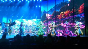 The entertainment show in Jiuzhaigou