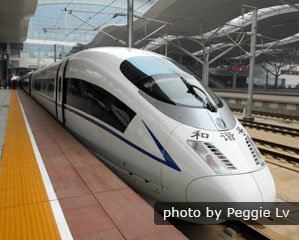 Shanghai - Guangzhou high-speed train, China bullet train