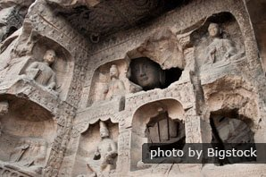 Buddhist statues in the Yungang grottoes