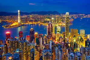 Hong Kong's night view