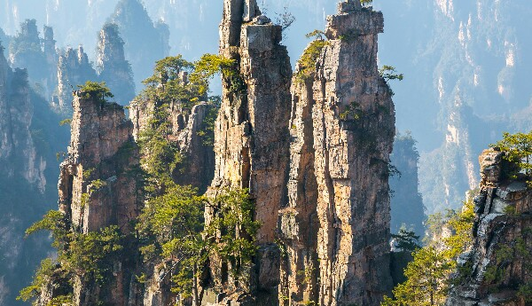 Zhangjiajie National Forest Park, in Wulingyuan Scenic Area