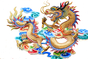 a Chinese dragon depiction