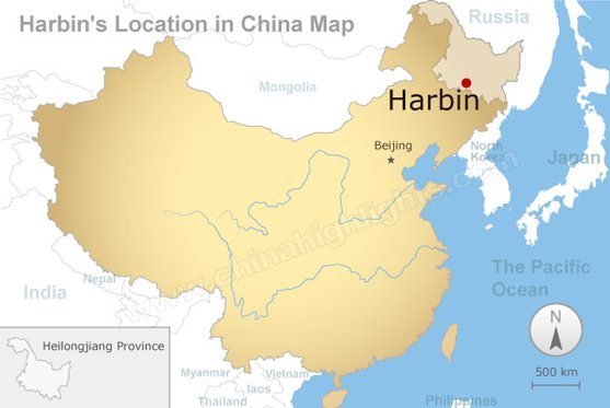 harbin's location in china