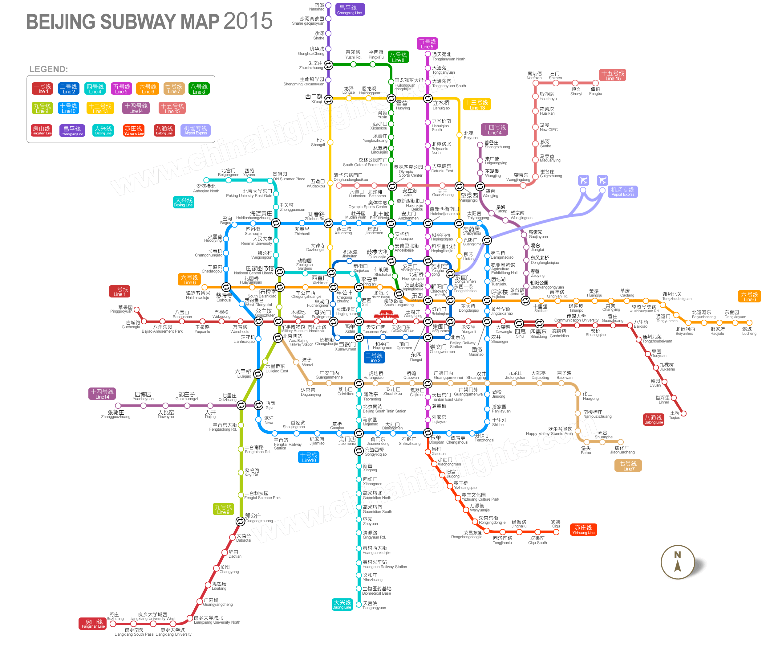 Beijing Map Map of Beijings Tourist Attractions and Subway – Beijing Travel Map