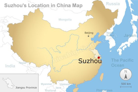 suzhou's location in china