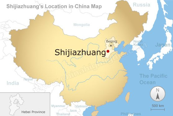 Shijiazhuang's Location in China Map