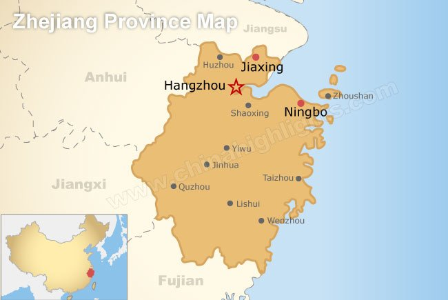 Image result for map of hangzhou