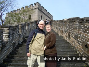 China Highlghts customers on the Great Wall