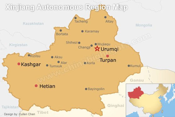 Xinjiang Autonomous Region Map