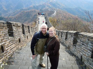 China Highlights customers on the Great Wall of China