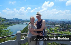 Bird's eye view of Guilin from Fubo hill