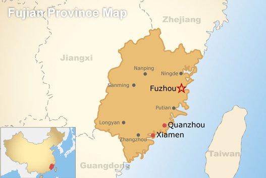 Fujian Province Map