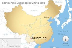 Localisation de Kunming
