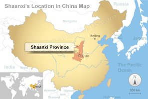 Shaanxi Map