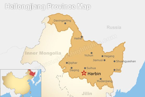 Heilongjiang Province Map