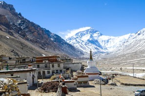 Mountain views of the Rongbuk Monastery