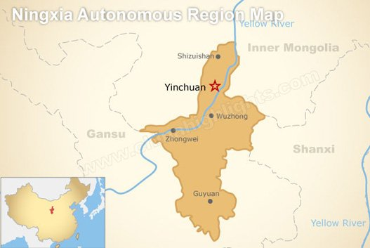 Ningxia Province Map