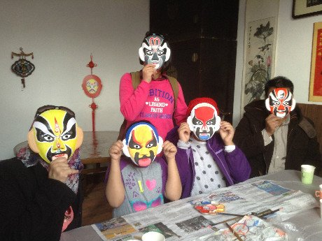 Learn to apply facial makeup for the Beijing Opera