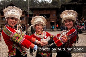 Miao ethnic people are celebrating their new year festival
