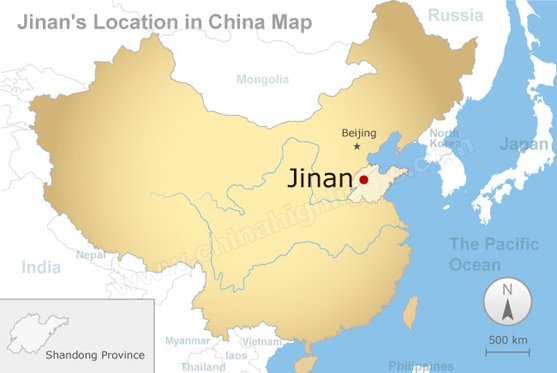 jinan's location in china