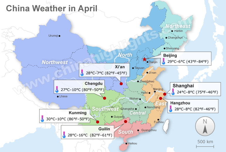 china weather in April