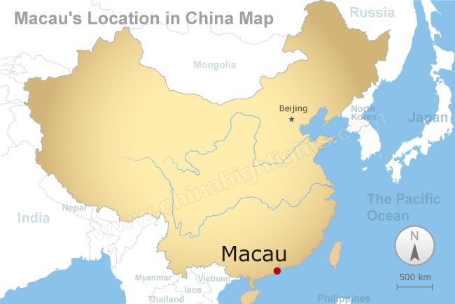 Map Of Macau Macau Maps, Maps of Macau's Location and Attractions Map Of Macau