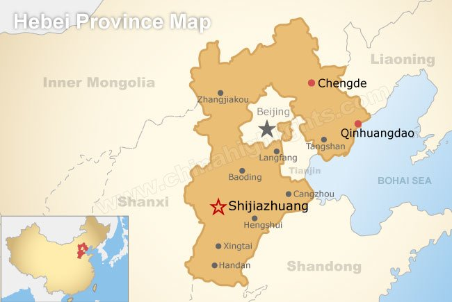 Hebei Province City Map