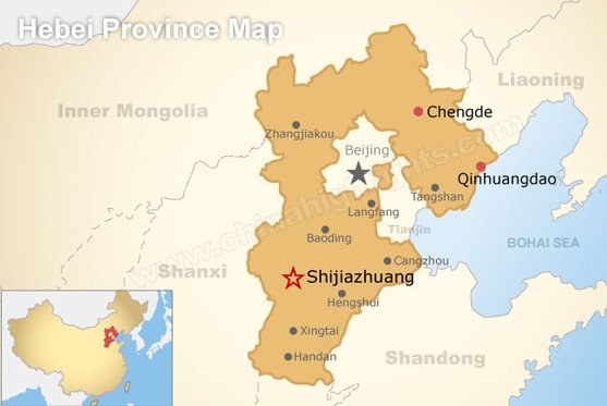 Hebei Province Map