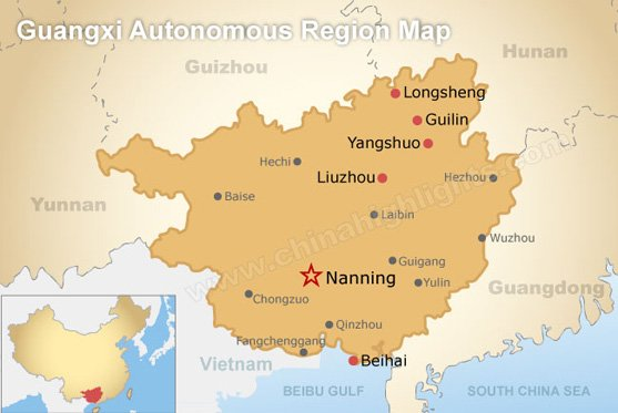 Guangxi Province Map