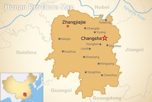 Hunan Province Map