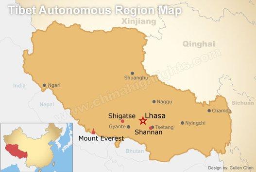 Tibet Autonomous Region Map