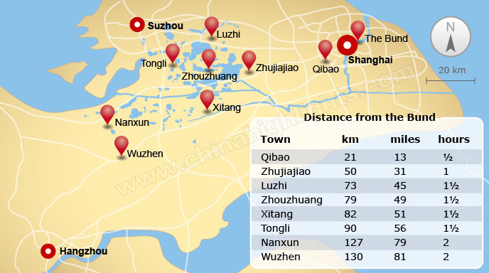 ancient towns close to shanghai