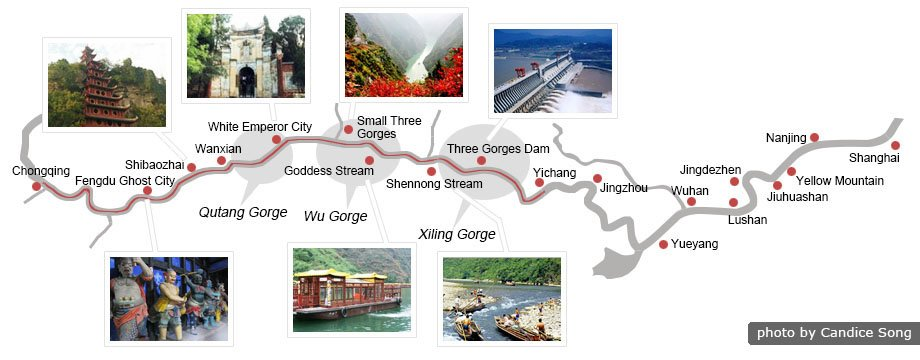 Yangtze Cruise Map