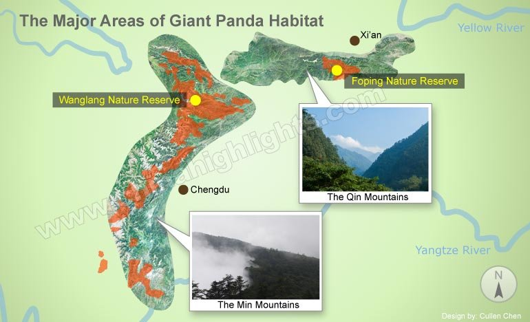 Giant Panda Distribution Map
