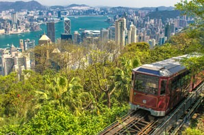 Take the tram to Victoria Peak.