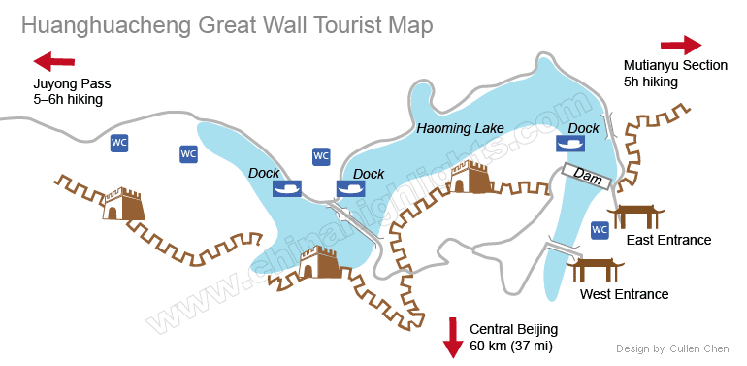 Huanghuacheng Great Wall Map