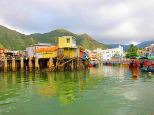 Tai O village in Hong Kong