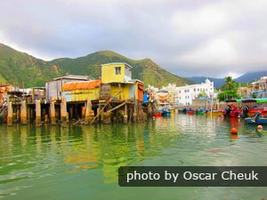 Tai O Village on Lantau Island