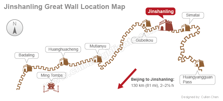 jinshanling map