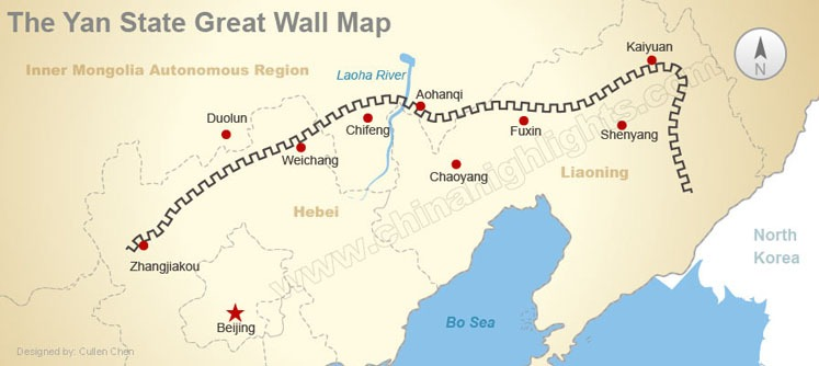 The Yan State Great Wall Map