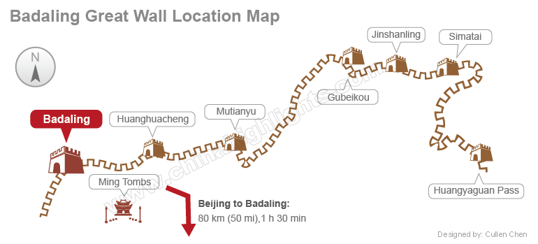 badaling location map