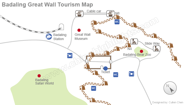 badaling tourism map